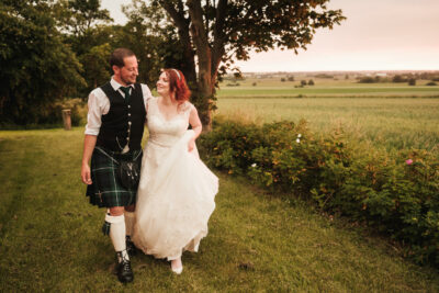 West Tower Wedding Photographer – Emilie & Simons Outdoor Wedding