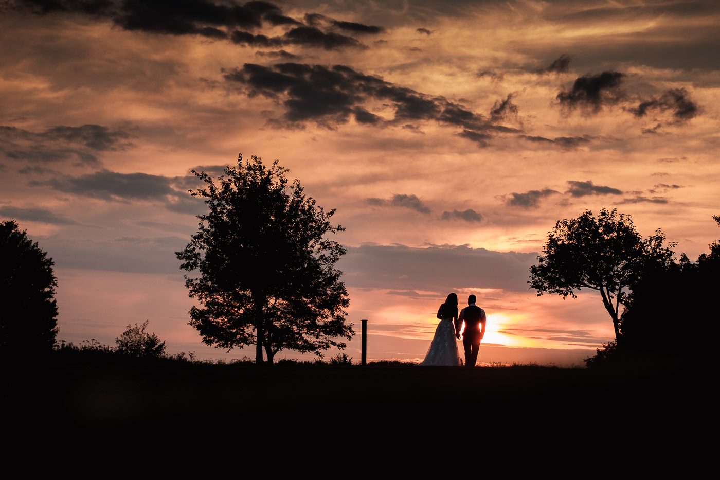 bride and groom at pryors Hayes golf club